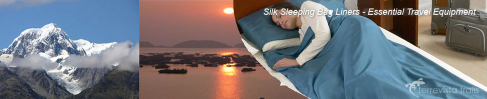 Silk Sleeping Bag Liners at Terre Vista Trails
