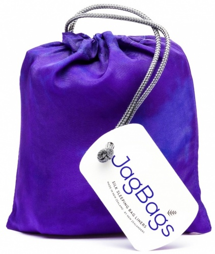 White JagBag Standard Pure Silk Sleeping Bag Liner Blue